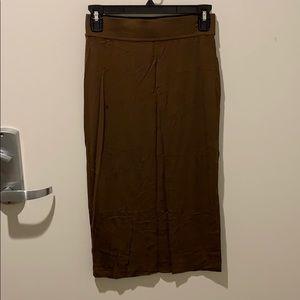 Forest green bodycon skirt